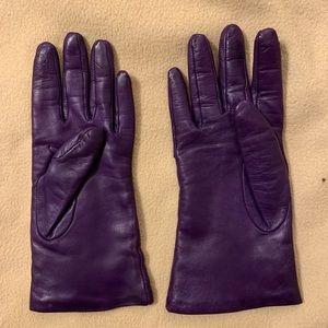 Nordstrom purple leather gloves
